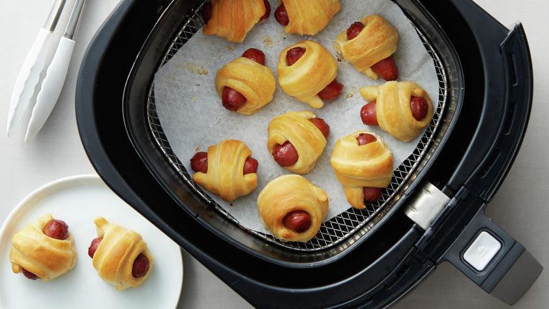 Mini saucisses en croûte de croissant à la friteuse à air