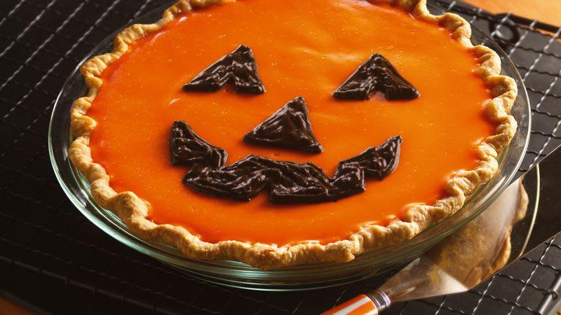 Jack-o'-Lantern Orange-Pumpkin Pie