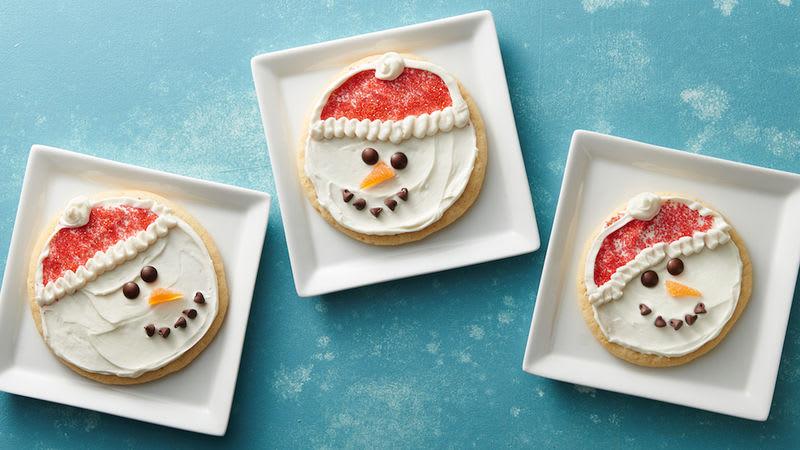 Biscuits bonhommes de neige mignons