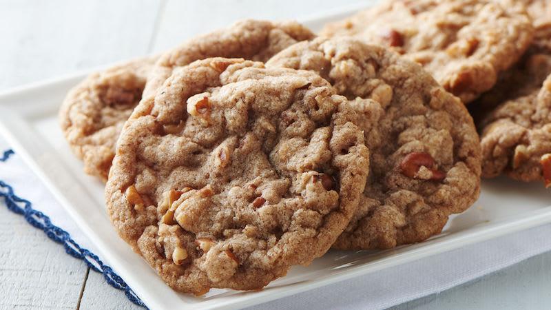 Biscuits à la cannelle, au toffee et aux pacanes