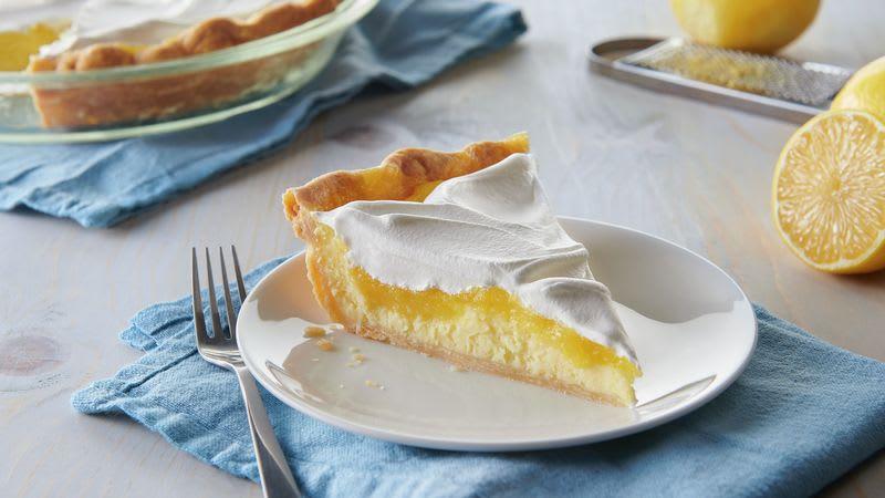 Tarte étagée au citron et au fromage à la crème