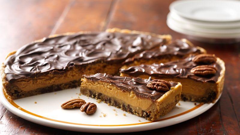 Chocolate-Peanut Butter Cookie Pie