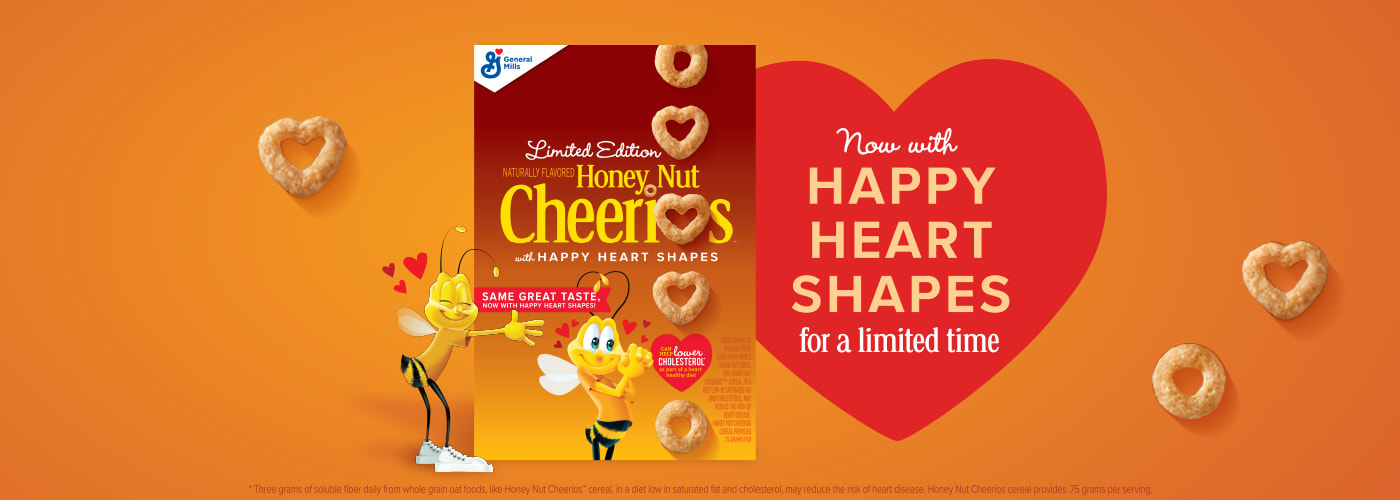 Heart shaped cheerios