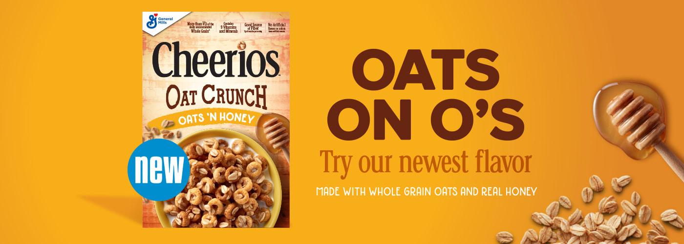 Cheerios oats on O's