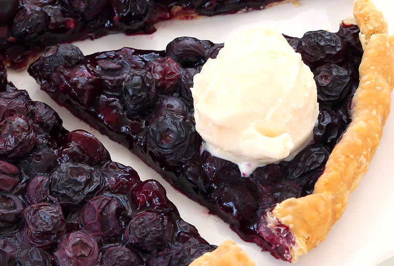 image of easiest ever blueberry tart