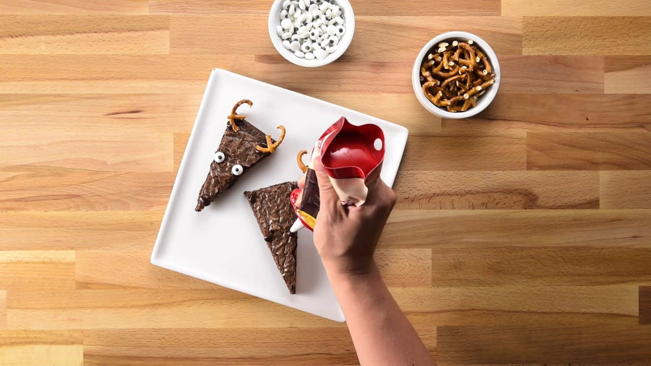 Video thumbnail image. Reindeer Brownies