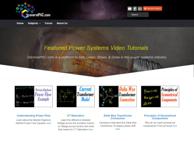 GeneralPAC Create Power System Tutorials