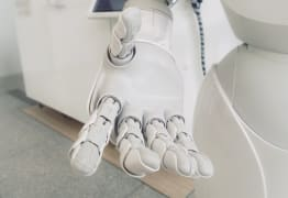 robot giving hand