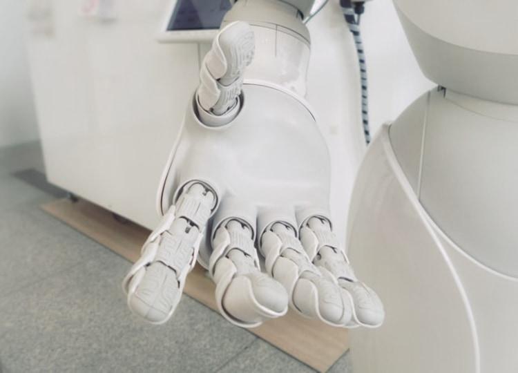robot giving hand