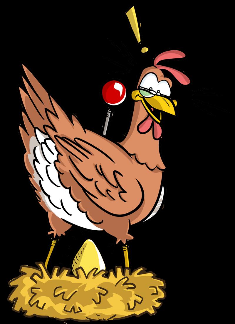 La gallina ha scoperto un uovo d oro.