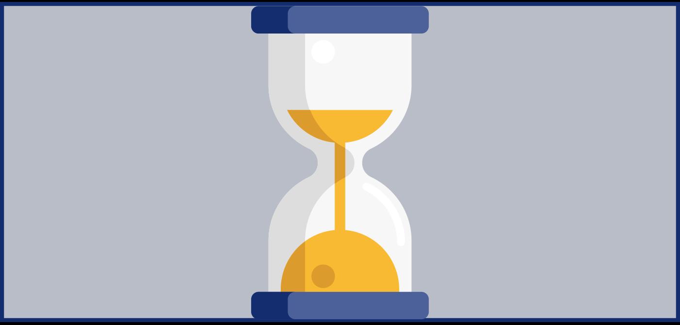 Sanduhr-Icon, um Wartezeit anzuzeigen