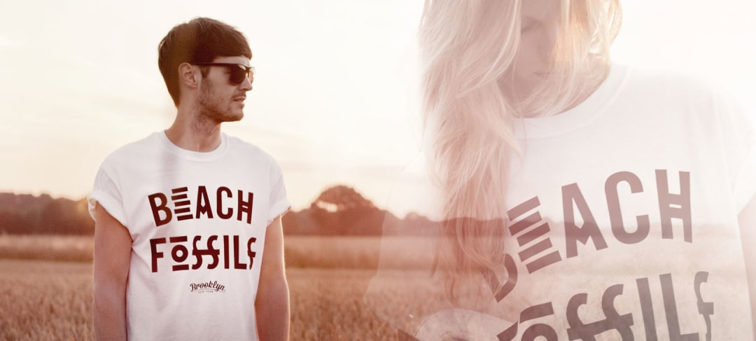 Beach Fossils band t-shirt in white