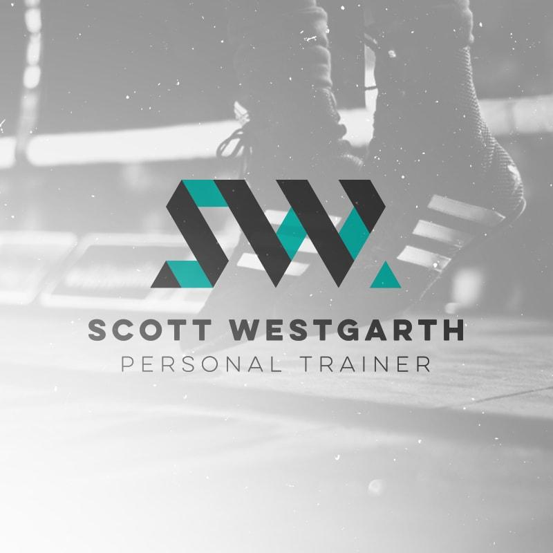 Scott Westgarth personal trainer logo brand design