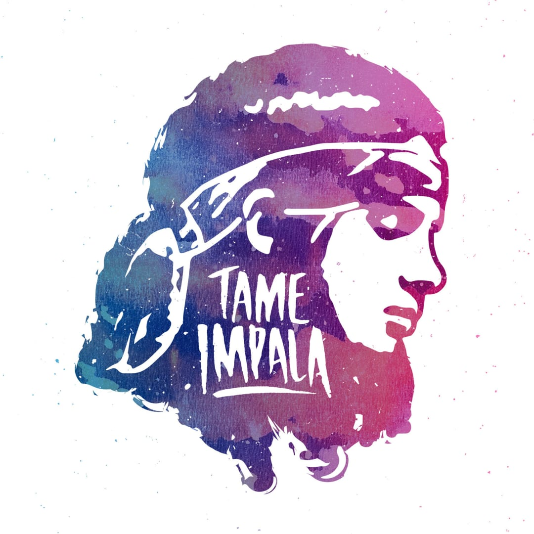 Tame Impala graphic design featuring Kevin Parker