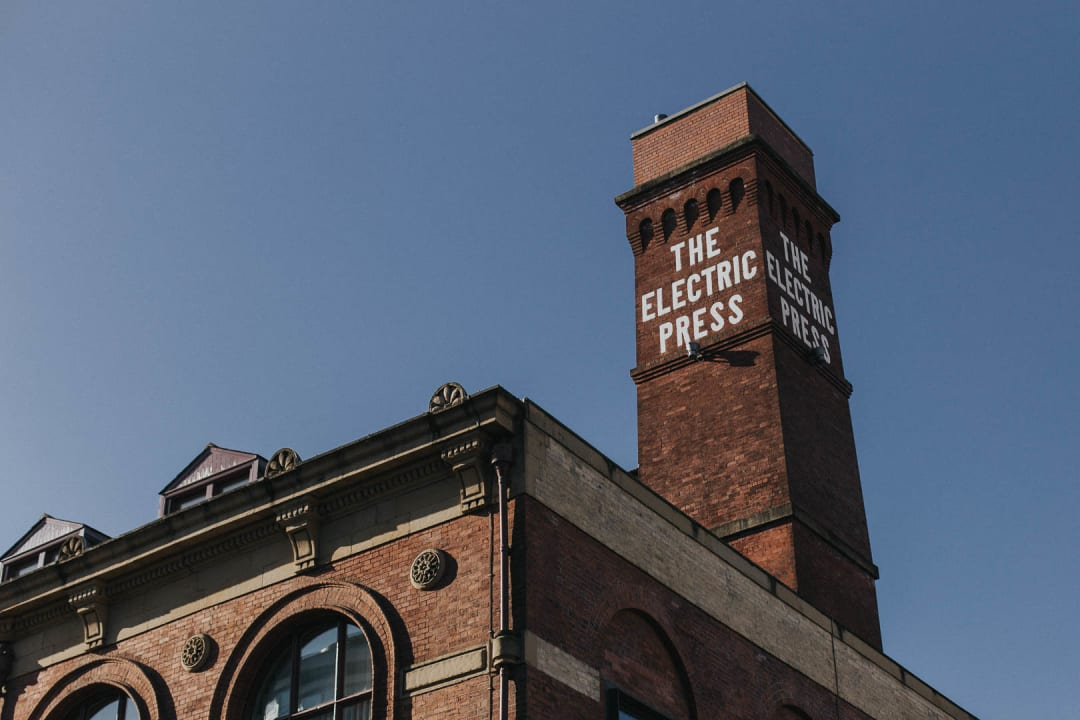 The Electric Press chimney in Leeds property photography for Bricklane.com