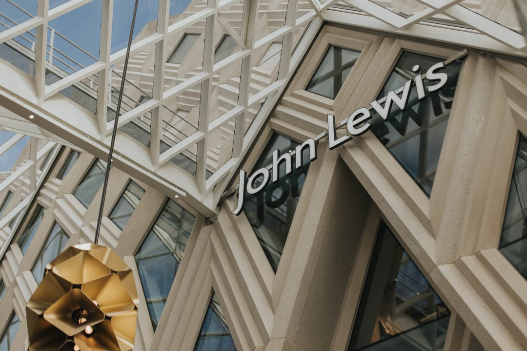 John Lewis entrance in Leeds city centre property photography for Bricklane.com