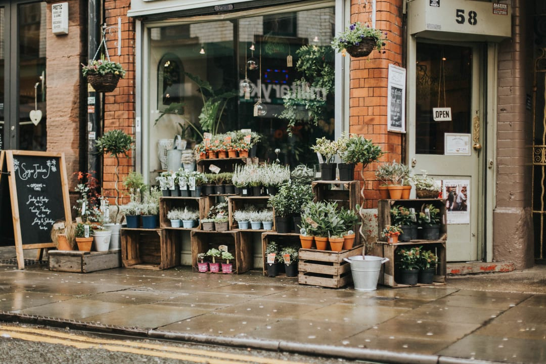 Flower shop in the Northern Quarter, Manchester property photography for Bricklane.com
