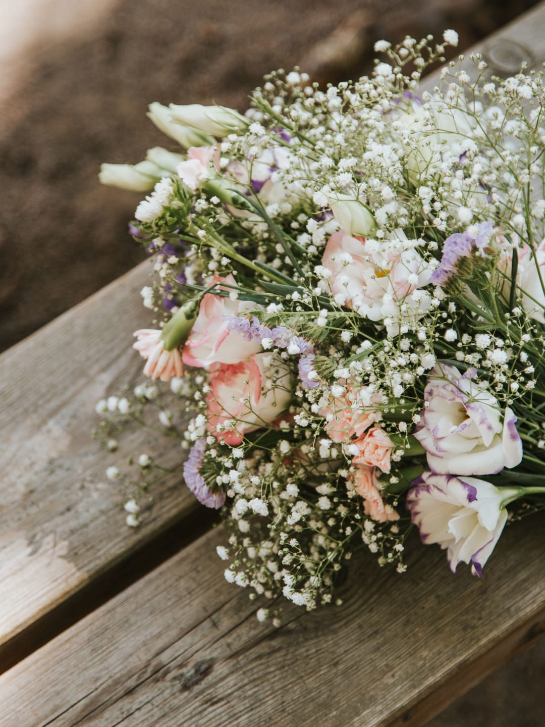 A close-up photograph of the brides flowers