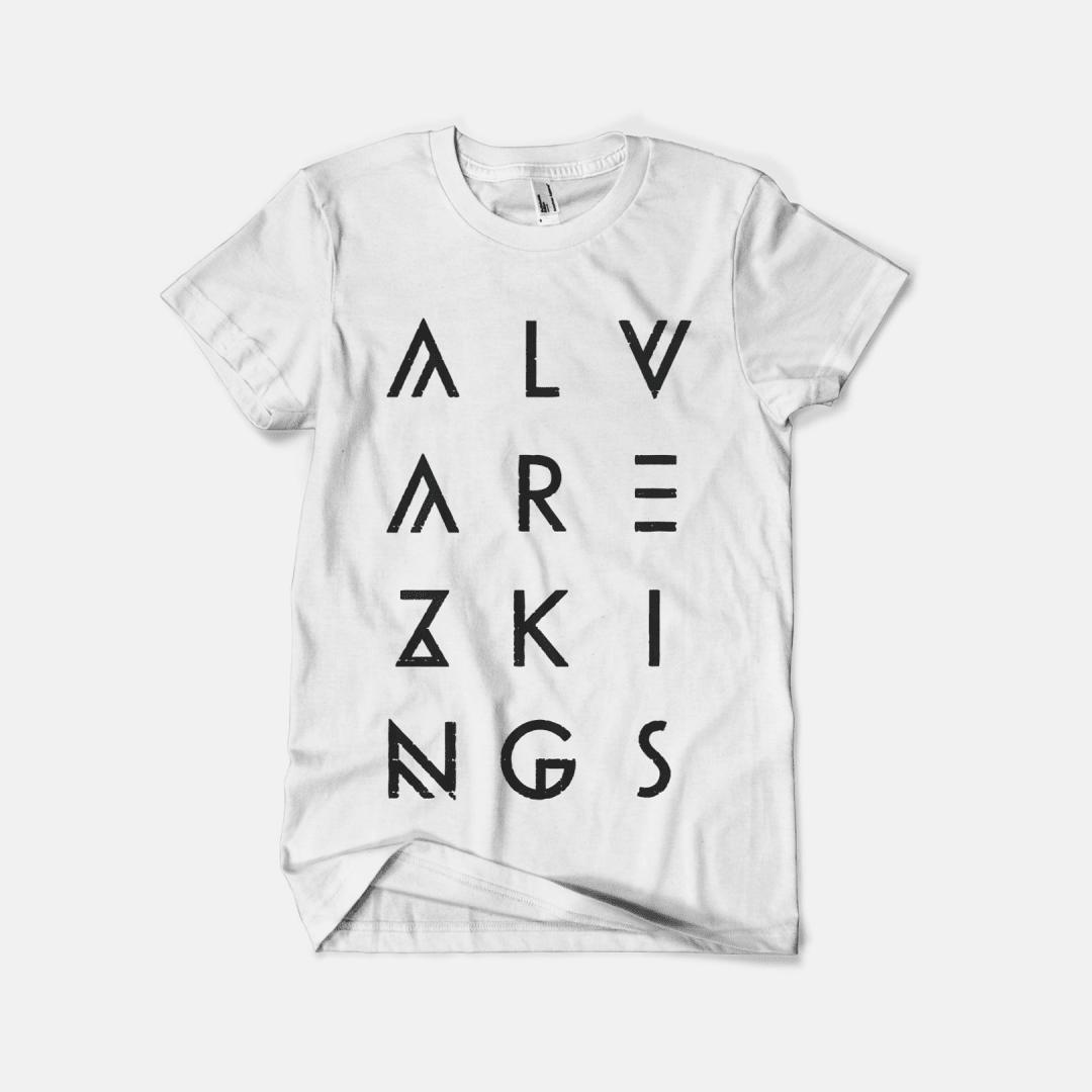 Alvarez Kings — Stacked typographic logo t-shirt design