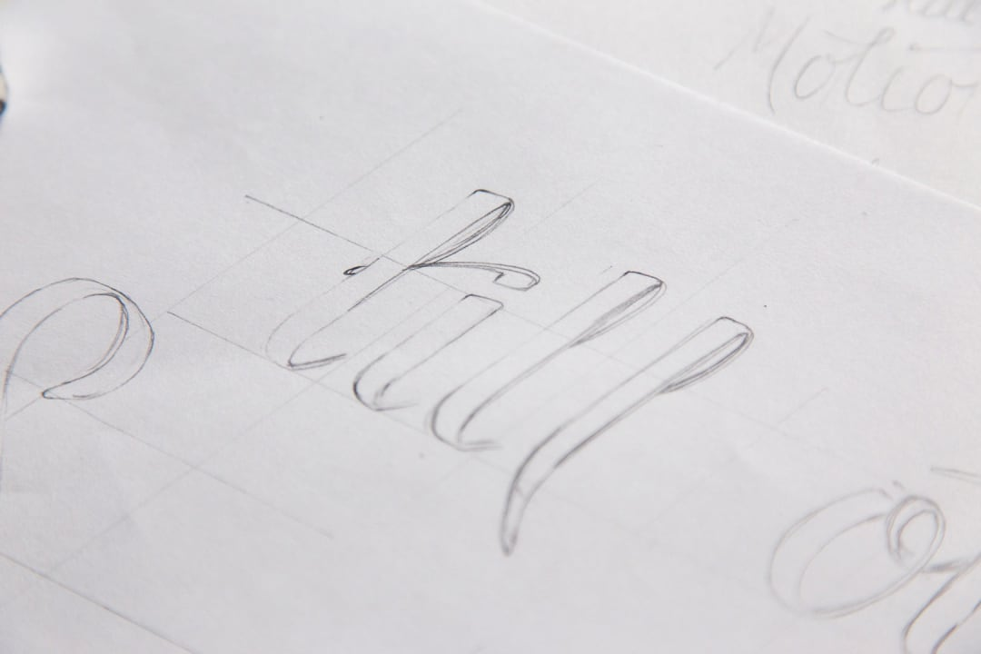 In Still Motion Photography logo hand lettering