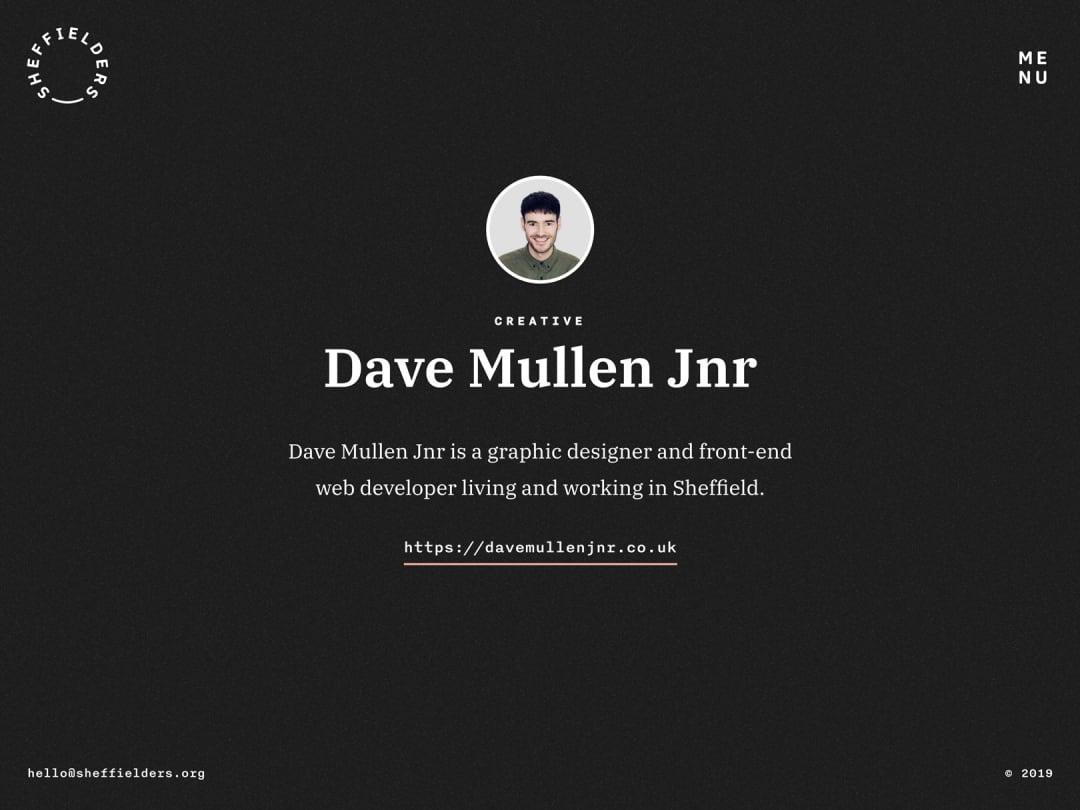 Sheffielders profile page design