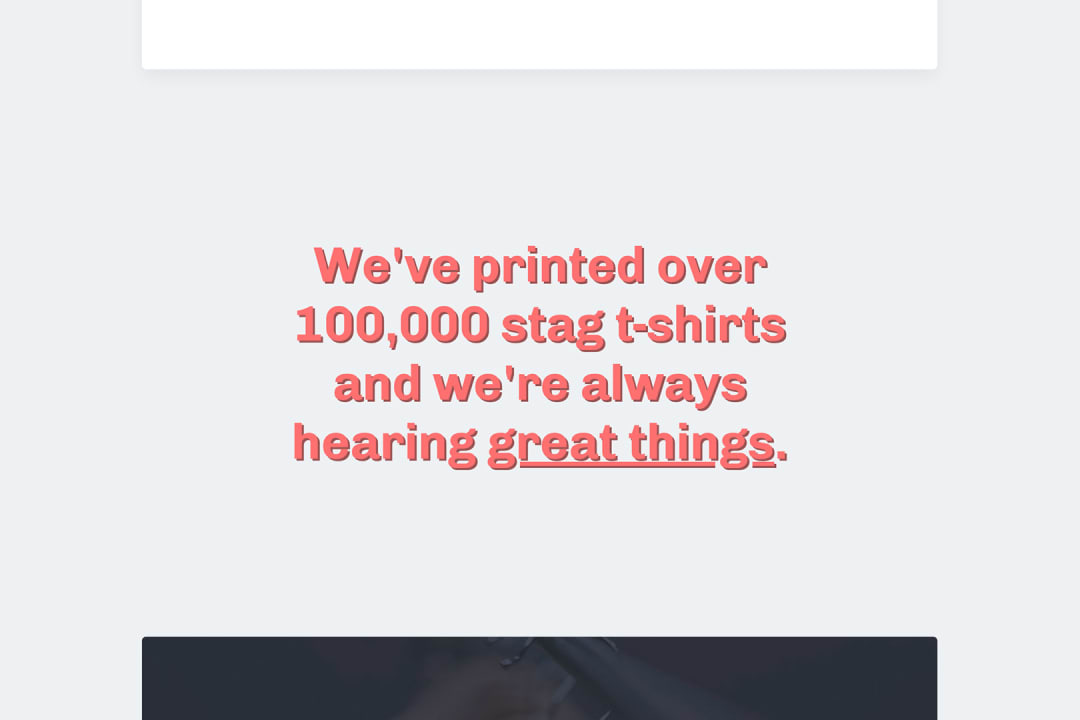 a quote from the tshirtexpert about page
