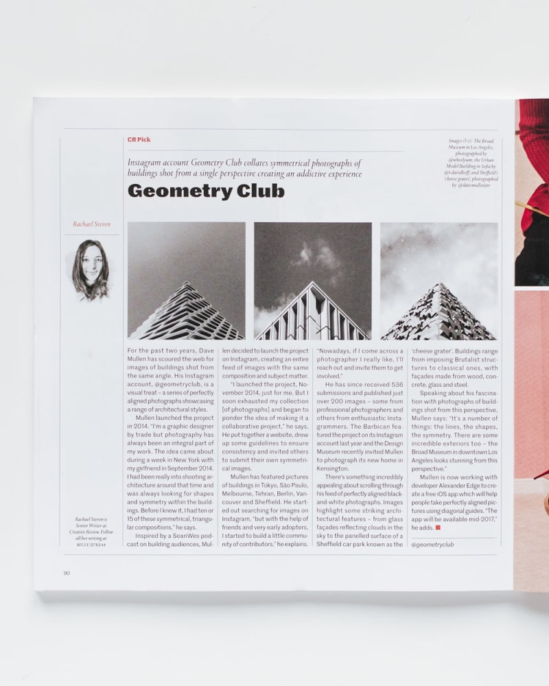 Geometry Club article in Creative Review magazine
