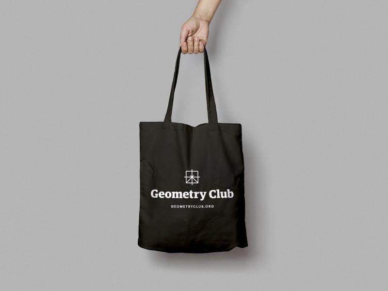 Geometry Club printed tote bags