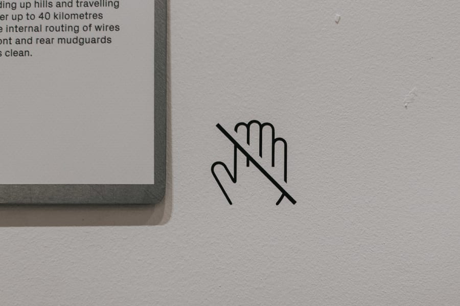 do not touch icon at the museum