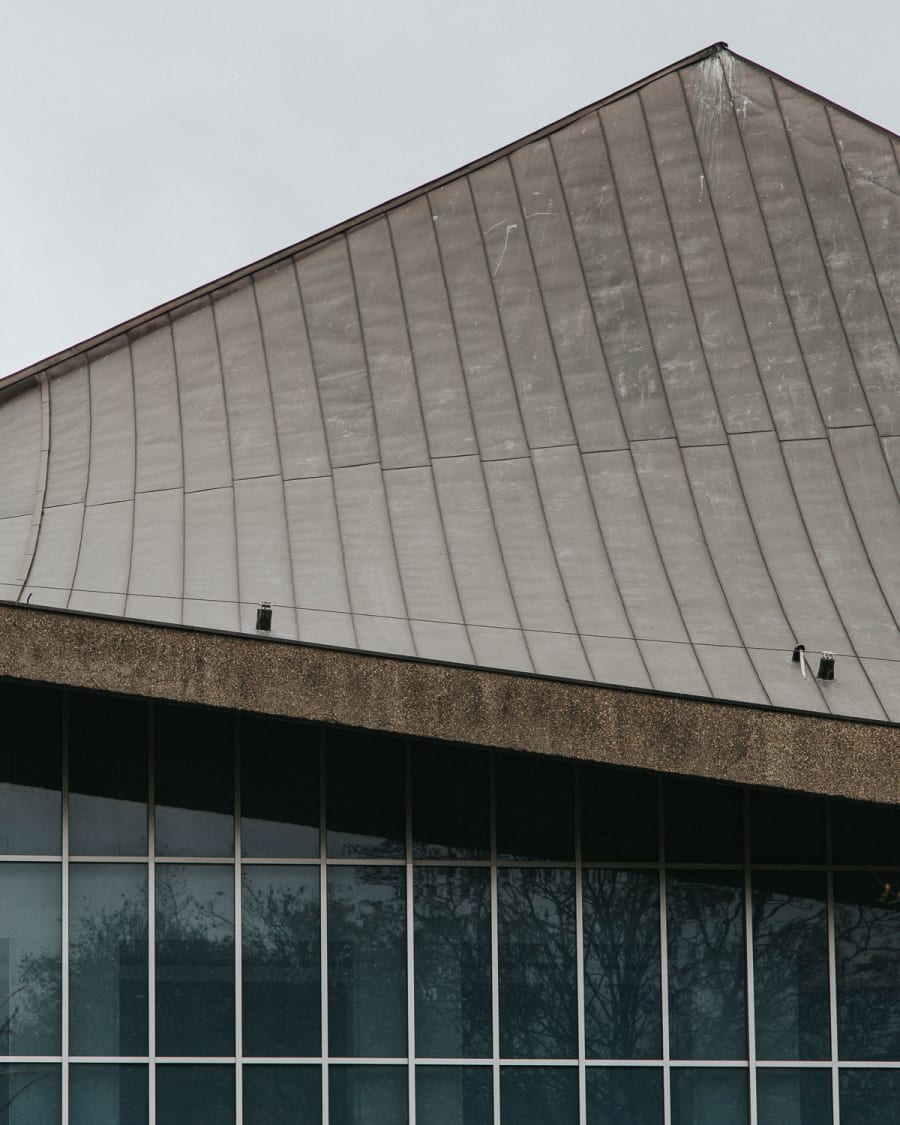 external shot of the hyperbolic roof design