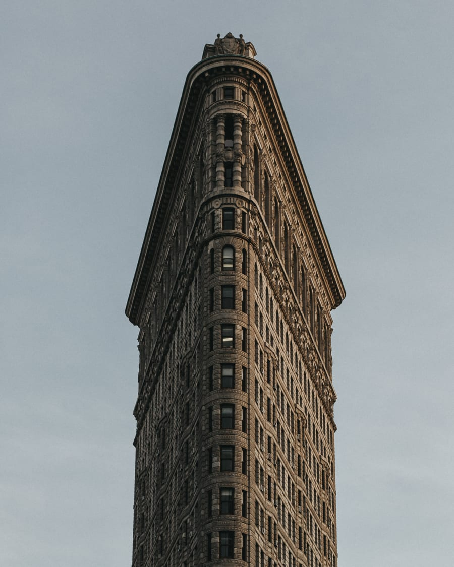 Close up of the flatiron building in Manhattan