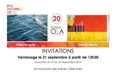 Expositions double avec Gilles Magnin et moi-même... du 19 au 22 septembre 2019, r...