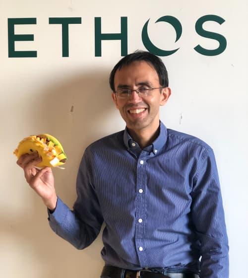 Harneet with taco