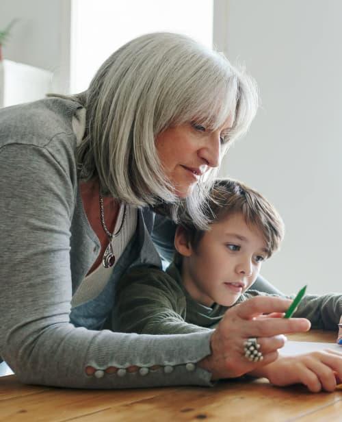 grandmother and grandson