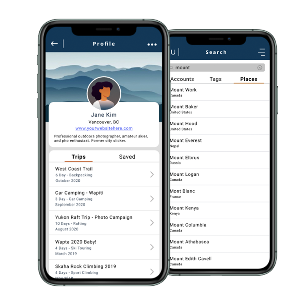 mockup of packup app on iphone