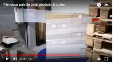 Filmeuse palette pour produits fragiles