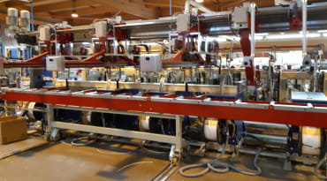 Scierie GAIFFE : Cercleuses automatiques avec arche escamotable
