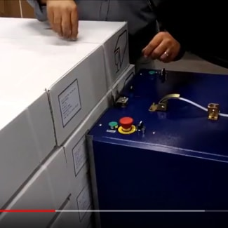 Cercleuse semi-automatique mobile pour le cerclage de palette en petite et moyenne cadences