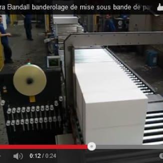 Getra Bandall banderoleuse de mise sous bande de panneaux sandwich polystyrènes