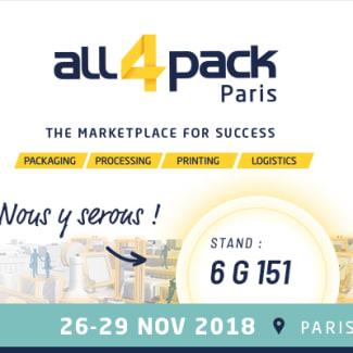 Getra sera présent au salon de l'emballage ALL4Pack 2018