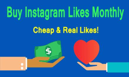 Buy Instagram Likes Monthly