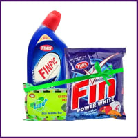 Finis Cleaning Pack (Finpic 500ml + Fin Washing Powder 500gm + Lebu Dish Wash 325 gm)