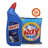 Swift Liquid Toilet Cleaner (RAY White & Bright 500 gm FREE)