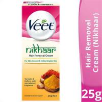 Veet Nikhaar Hair Removal Cream (Turmeric, Sandal & Saffron)