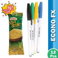 Econo FX Ball Pen (Black Ink) Krispy Dal Vaji Free !