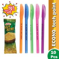 Econo Tech Point Oil Gel Pen - (Krispy Dal Vaji Free) !