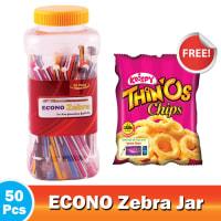 Econo Zebra Ball Pen With Jar - (Krispy Thinos Free) !