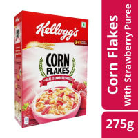 Kelloggs Corn Flakes with Real Strawberry Puree