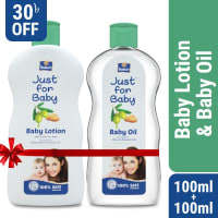 Parachute Just for Baby - Baby Lotion 100ml & Baby Wash 100ml Combo Offer