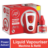 Godrej Good Knight Power Active+ Liquid Vapouriser Machine & Refill